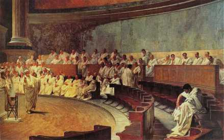 Cicero and the fall of the Roman Republic (Cesare Maccari)
